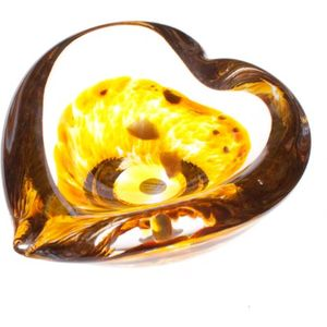 Caithness Glass Mini Heart Bowl: Gold