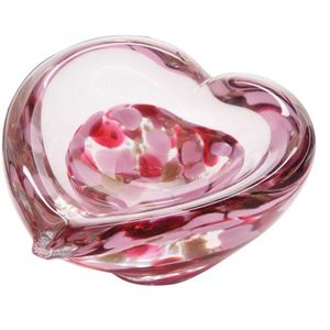 Caithness Glass Mini Heart Bowl: Ruby