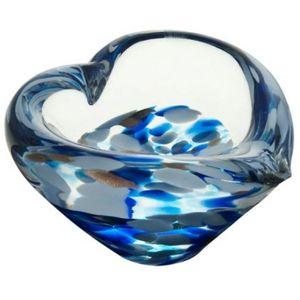 Caithness Glass Mini Heart Bowl: Sapphire