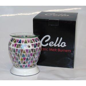 Cello Electric Wax Melt Burner: Lilac Lustre (Barrel)