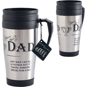 Ultimate Man Gift Travel Mug - Worlds Best Dad