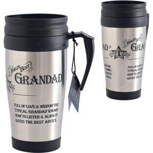 Ultimate Man Gift Travel Mug - Worlds Best Grandad