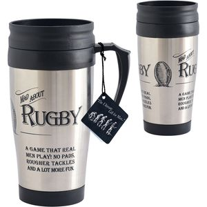 Ultimate Man Gift Travel Mug - Mad about Rugby