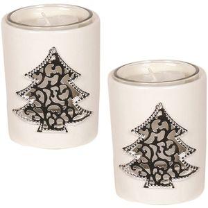 Aroma Votive Candle Holders Set of 2: Xmas Tree