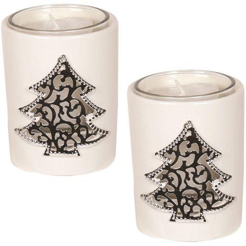 Aromatize Votive Candle Holders Set of 2: Christmas Tree
