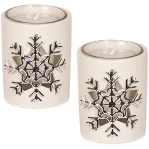 Aroma Votive Candle Holders Set of 2: Snowflake