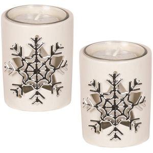 Aroma Votive Candle Holders Set of 2: Snowflake