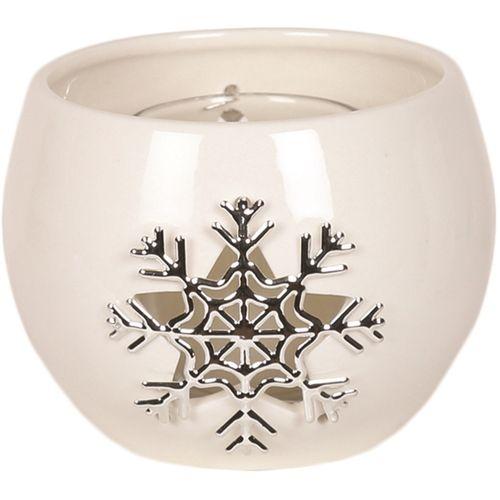 Aromatize Tealight Candle Holder: Metallic Snowflake