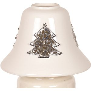 Aroma Jar Candle Lamp Shade: Metallic Christmas Tree