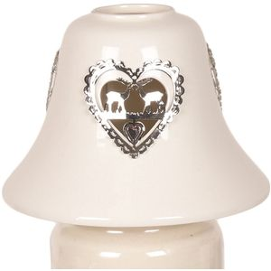 Aroma Jar Candle Lamp Shade: Metallic Reindeers