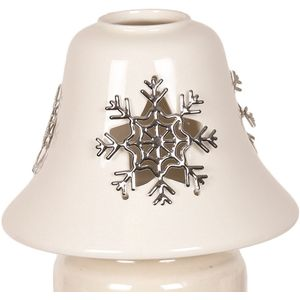 Aroma Jar Candle Lamp Shade: Metallic Snowflake