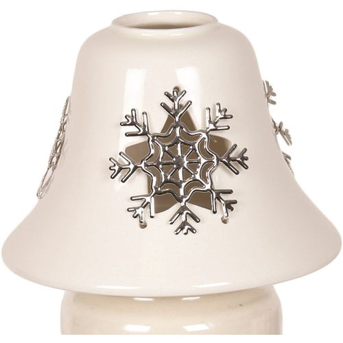 Aromatize Jar Candle Lamp Shade: Snowflake Metalic AR1005SF