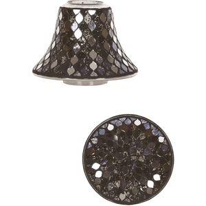 Aroma Jar Candle Shade & Plate Set - Black Mirror Teardrop