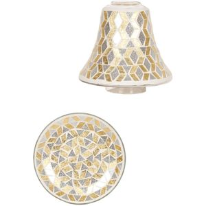 Aroma Jar Candle Shade & Plate Set: G & S Glitter