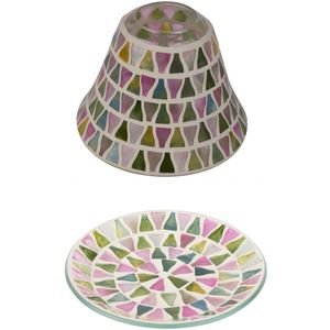 Jar Candle Shade & Plate Gift Set - Lilac Lustre