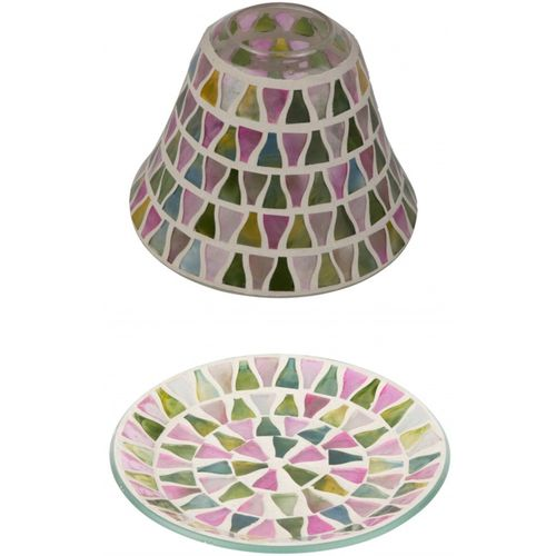 Lilac Lustre Candle Shade & Plate Gift Set
