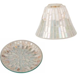 Jar Candle Shade & Plate Gift Set - Board Walk