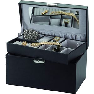 Mele & Co Bonded Leather Jewellery Case - Midnight Moods Princess