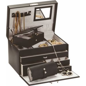 Mele & Co Bonded Leather Jewellery Case & 2 Travellers - Midnight Moods Duchess