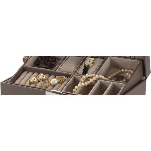 Mele & Co Bonded Leather Jewellery Case - Princess Mink