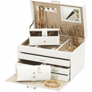 Mele & Co Bonded Leather Jewellery Case - Duchess Polar Ice