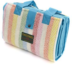 Tweedmill Leisure Picnic Rug - Rainbow Stripe