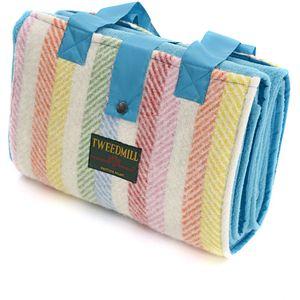 Tweedmill Leisure Rug (Turquoise & Rainbow Stripe)