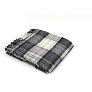 Tweedmill Pure New Wool Cottage Throw (Grey)