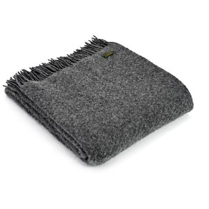 Tweedmill Pure New Wool Wafer Throw - Slate