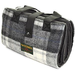 Tweedmill Leisure Picnic Rug - Cottage Grey Check
