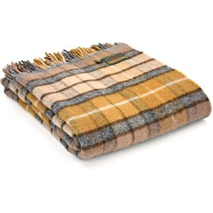 Tweedmill Traditional Tartan Throw - Natural Buchanan