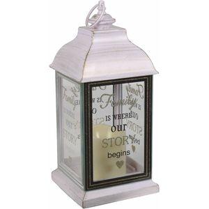 Lantern with LED Candle - Family (White)