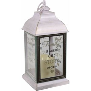 LED Light Up Lantern - Family (White)