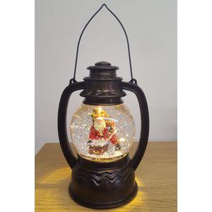 Christmas Lantern with LED Water Globe -Santa Claus