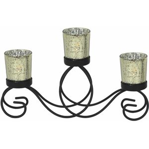 Triple Tealight Candle Holder (Gold)