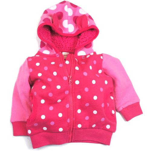 Unicorn Collection - Pink Spot Hoodie 0-6 Months