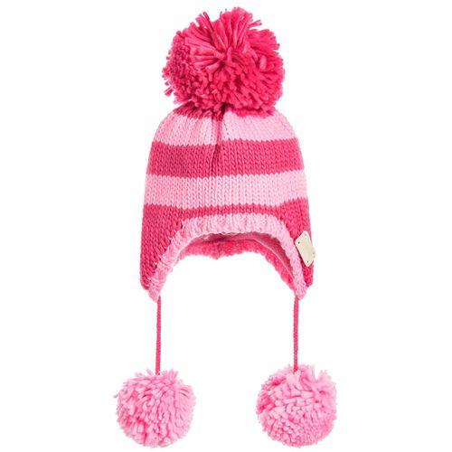 Unicorn Collection - Pink Stripe Bobble Hat - Small