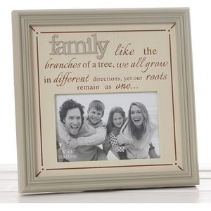 "Fine Phrases Photo Frame 6x4"" - Family"