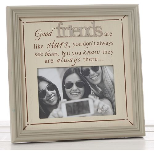 "Fine Phrases Photo Frame 6"" x 4"" - Good Friends"