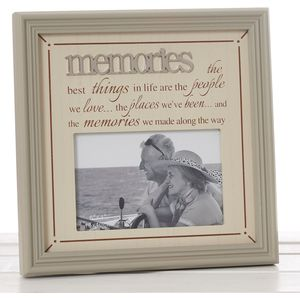 "Fine Phrases Photo Frame 6x4"" - Memories"