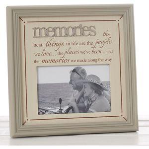 "Fine Phrases Photo Frame Memories 6x4"""