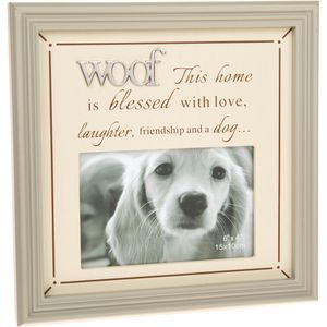"Fine Phrases Photo Frame 6x4"" - Woof"