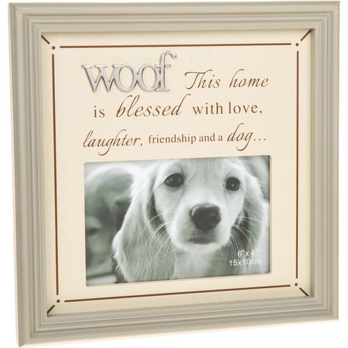 "Fine Phrases Photo Frame 6"" x 4"" - Woof"