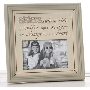 "Fine Phrases Photo Frame 6"" x 4"" - Sisters"