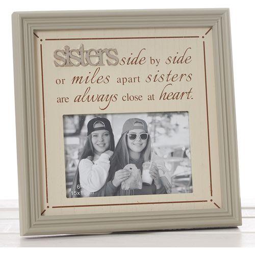 "Fine Phrases Photo Frame 6"" x 4"" - Sisters"
