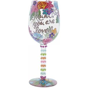 Lolita Hand Painted Wine Glass - Mum You Are Loved
