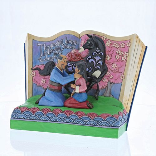 Disney Traditions The Greatest Honor is You as a Daughter (Mulan) Story Book Figurine 4059729