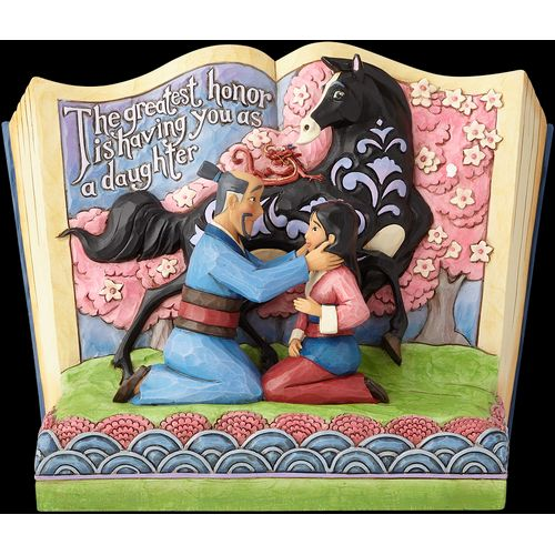 Disney Traditions The Greatest Honour is You as a Daughter (Mulan) Story Book Figurine 4059729