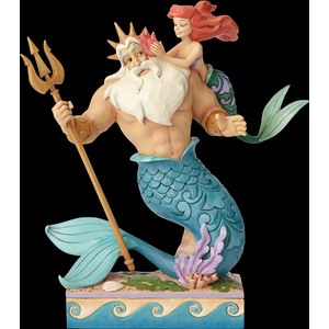 Disney Traditions Daddys Little Princess (Ariel & King Triton) Figurine