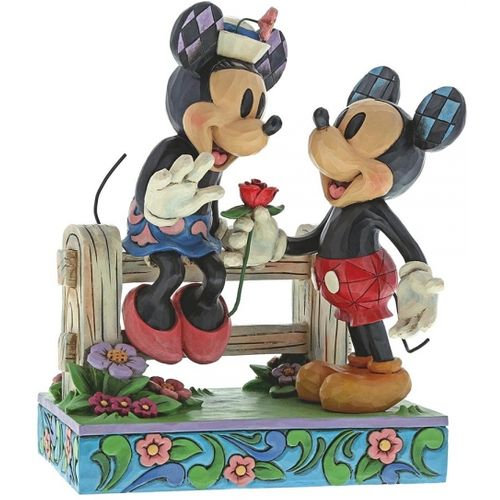 Blossoming Romance Mickey & Minnie Mouse Figurine (Disney Traditions ...